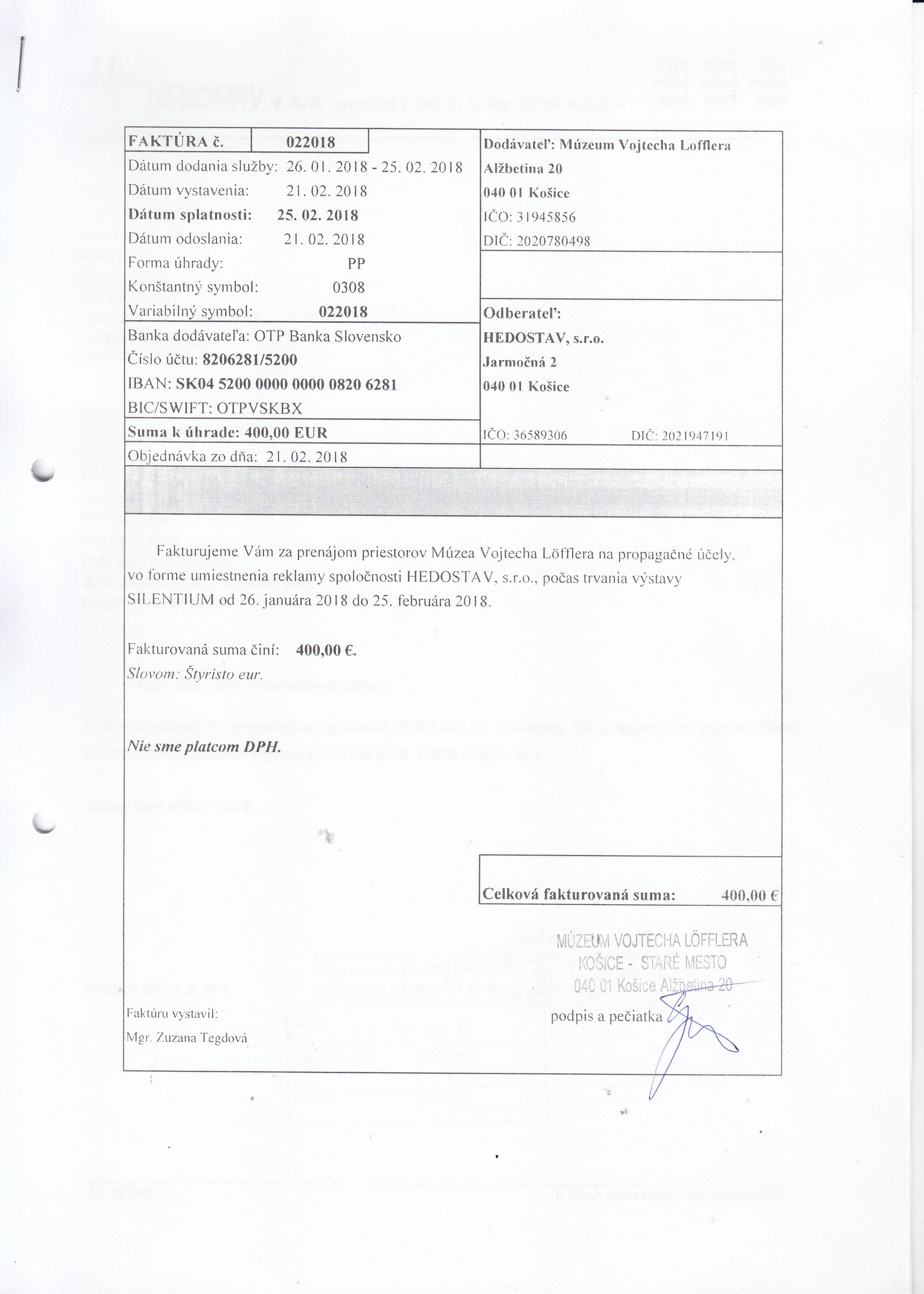 2835fec33034 Archív faktúr 2015 - 2018   Dokumenty   Zverejňované dokumenty ...