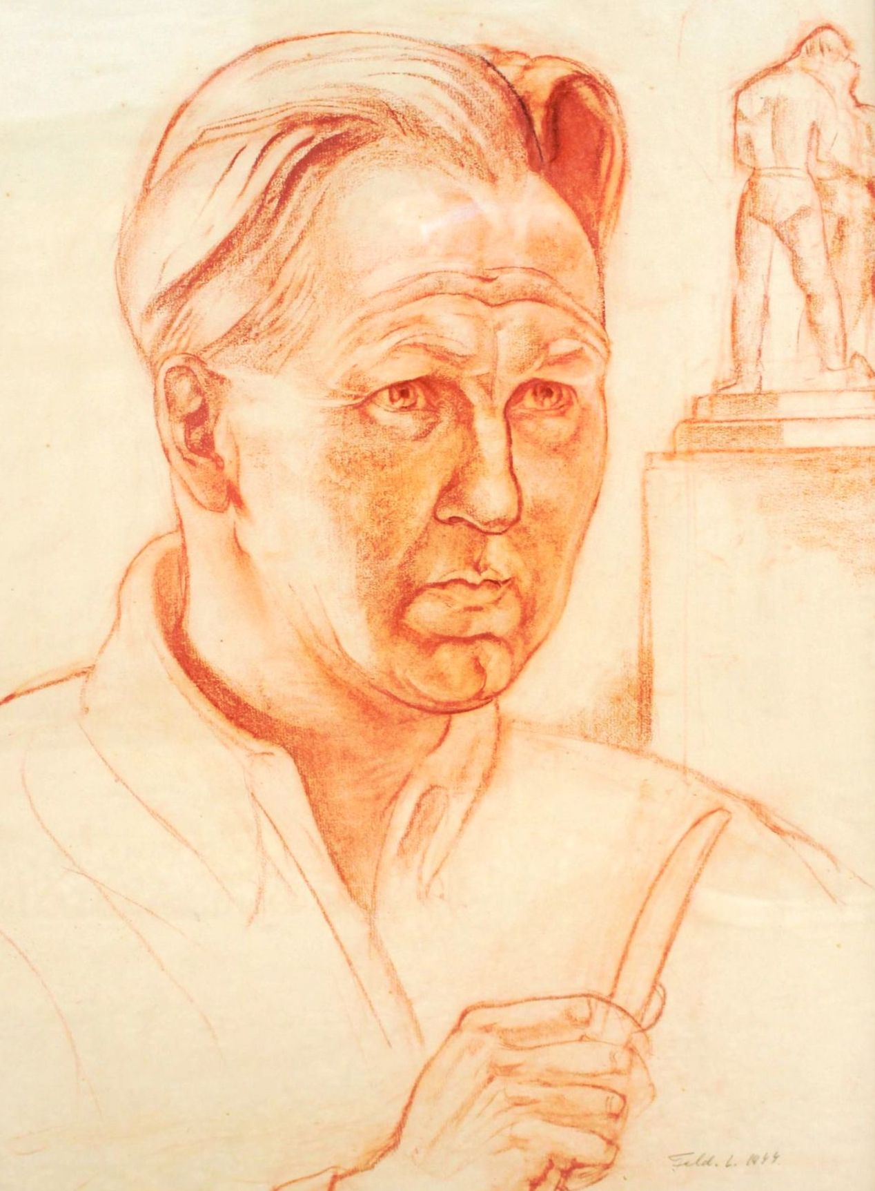 Portrét Vojtecha Löfflera, 1944, autor Ľudovít Feld